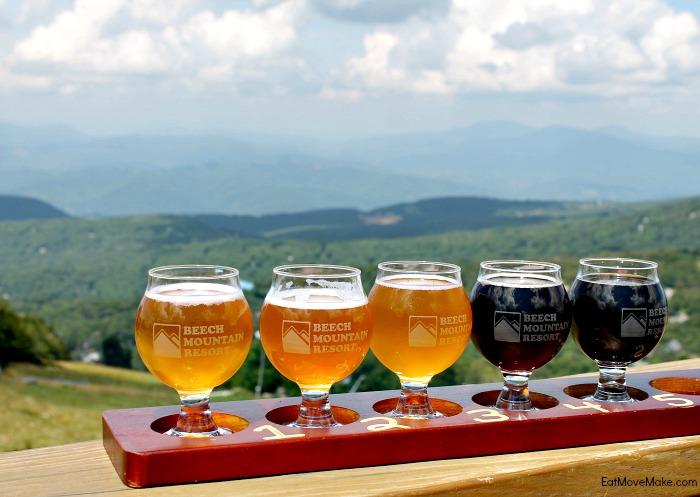 beer-flight-at-5506-sky-bar-beech-mountain-nc