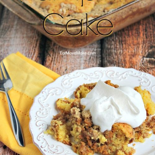 pumpkin dump cake on plate