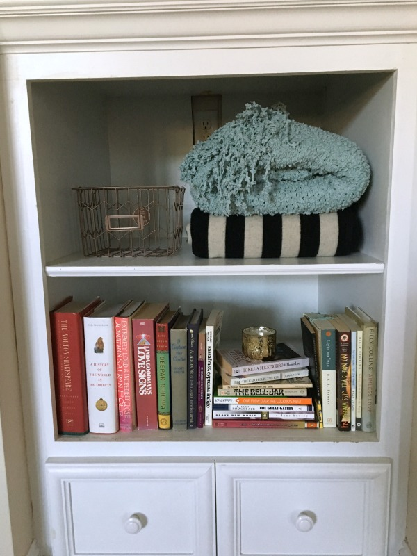 Deep shelves styling progress