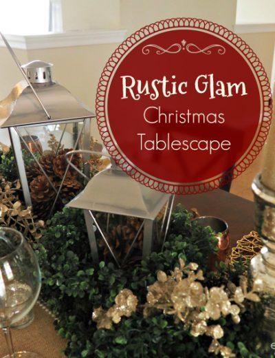 rustic glam tablescape