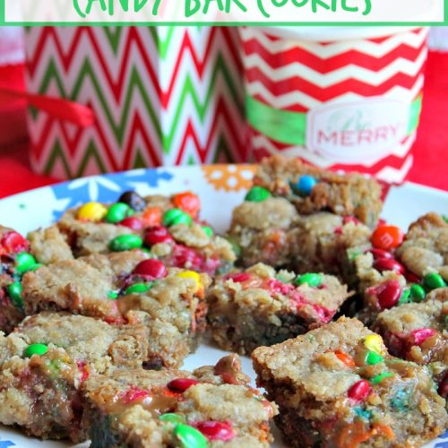 candy bar cookies on plate