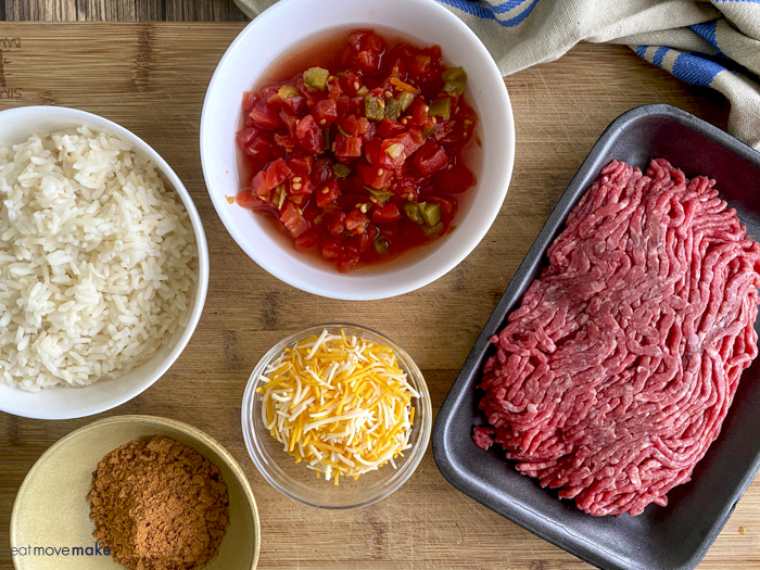 ingredients for Tex-Mex stuffed sweet potatoes