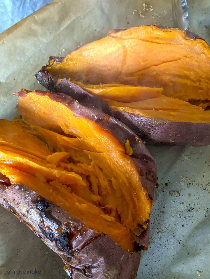 sweet potato cut open