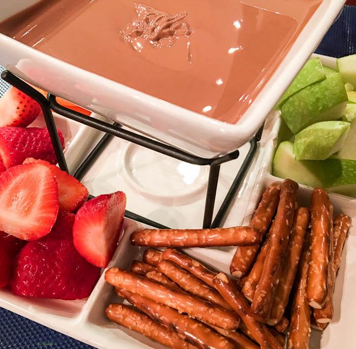 Chocolate fondue at The Royal Chocolate - Virginia Beach