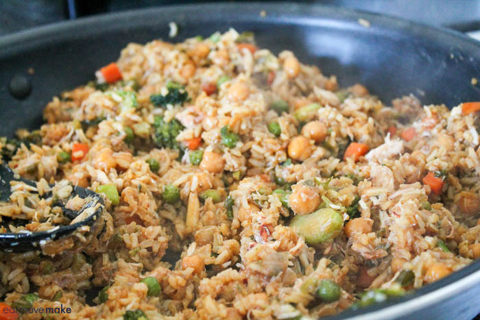 add crab to rice