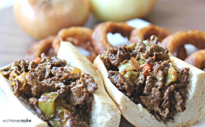 cajun cheesesteak sandwiches on plate
