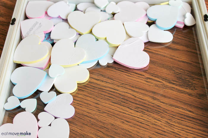 foam conversation hearts