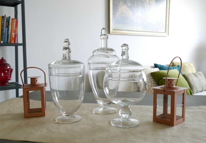 Oriental Trading cloches and lanterns
