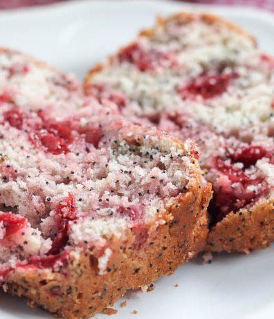 cherry almond poppyseed quick bread