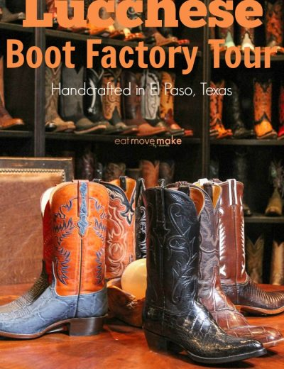 boot factory tour sign