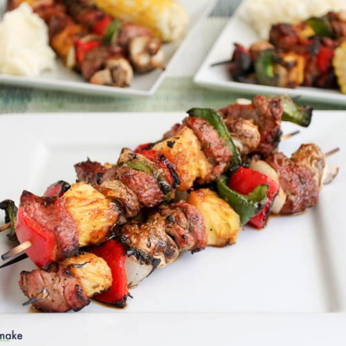 grilled pork tenderloin kebabs with apricot ginger glaze recipe