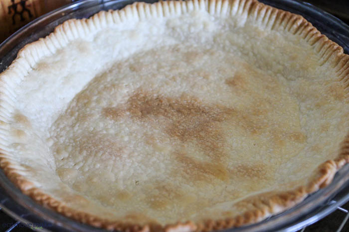 pre-baked pie shell