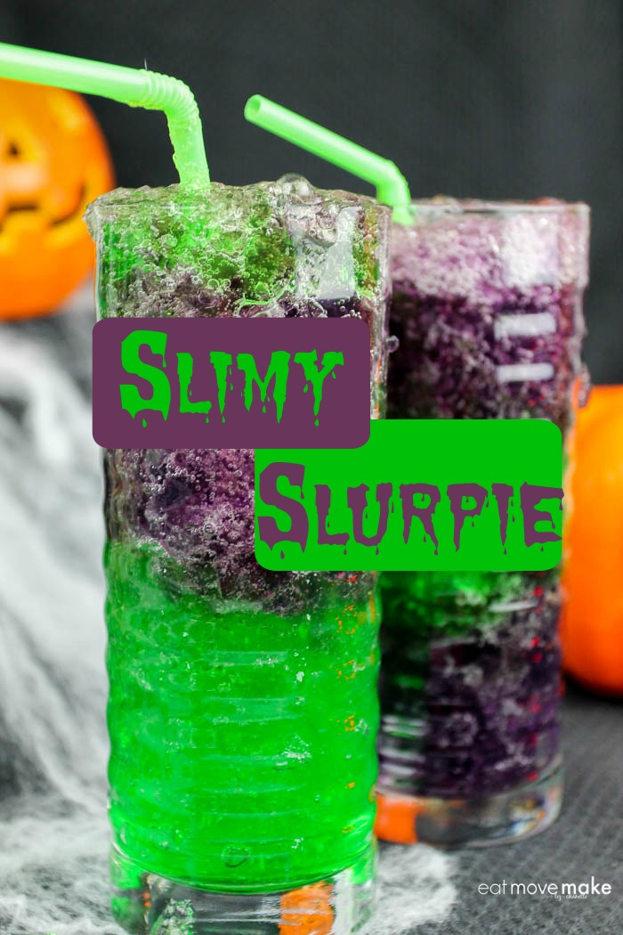 slimy slurpie for Halloween