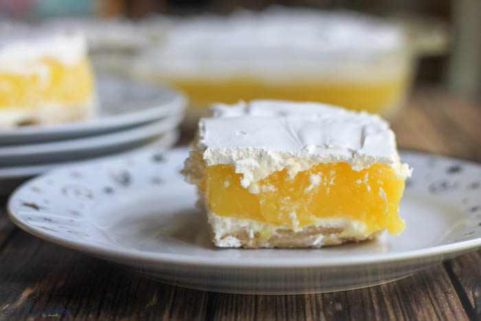 lemon cream bar on plate