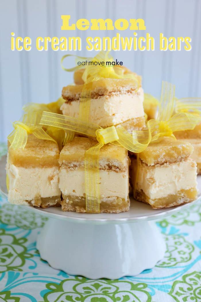 lemon ice cream sandwich bars