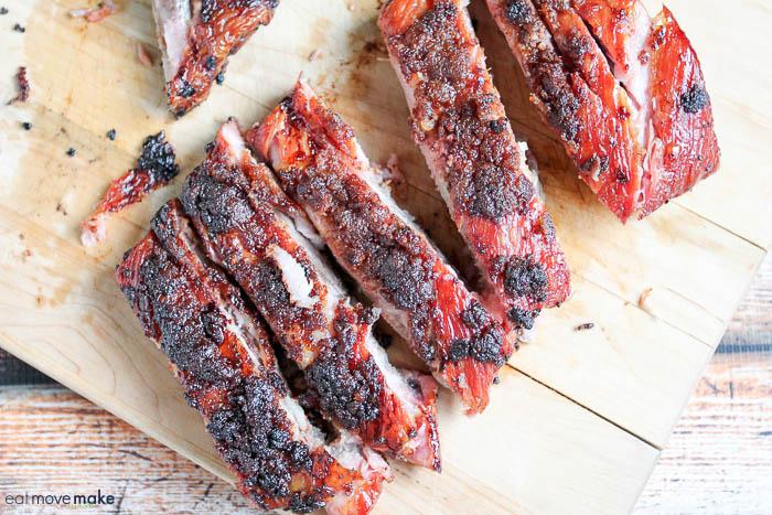 cut ribs on cutting board