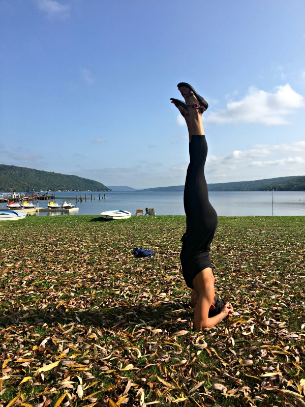 Keuka Lake headstand