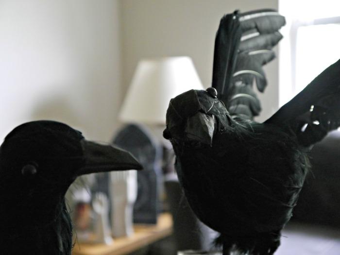 Halloween raven tablescape centerpiece ravens 2