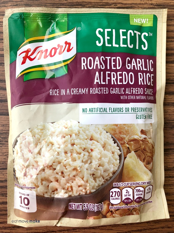 Knorr Selects Roasted Garlic Alfredo Rice package