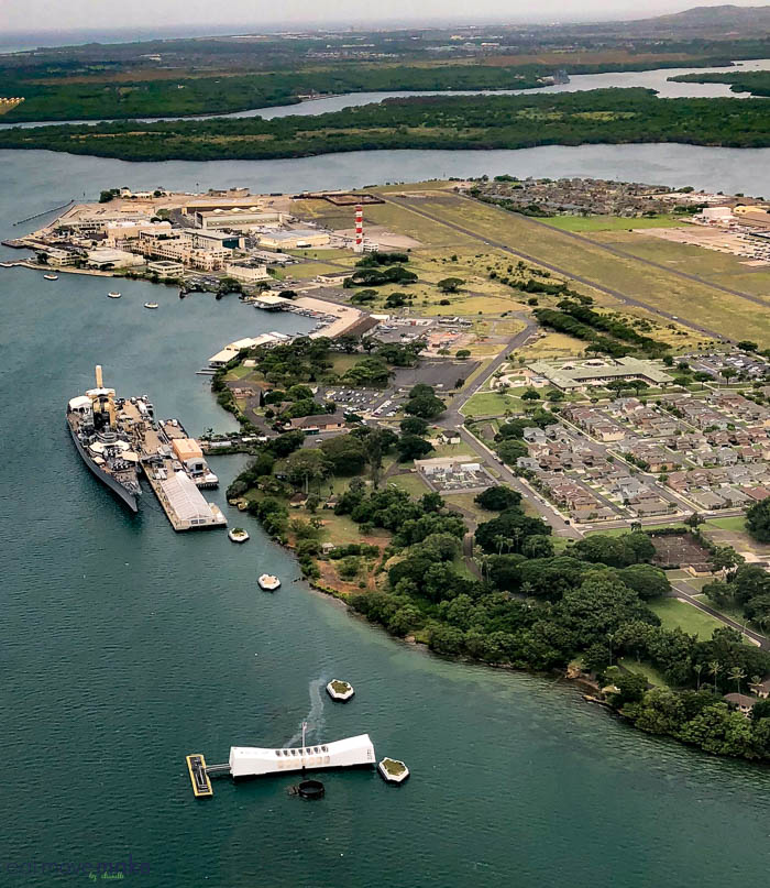 Pearl Harbor view from the air