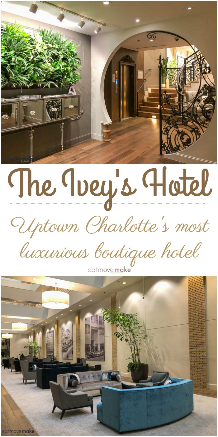 The Ivey's Hotel in uptown Charlotte, NC has 42 luxurious guest rooms and is one high-falutin', fancy-schmancy place. A luxury boutique hotel straight out of your dreams.