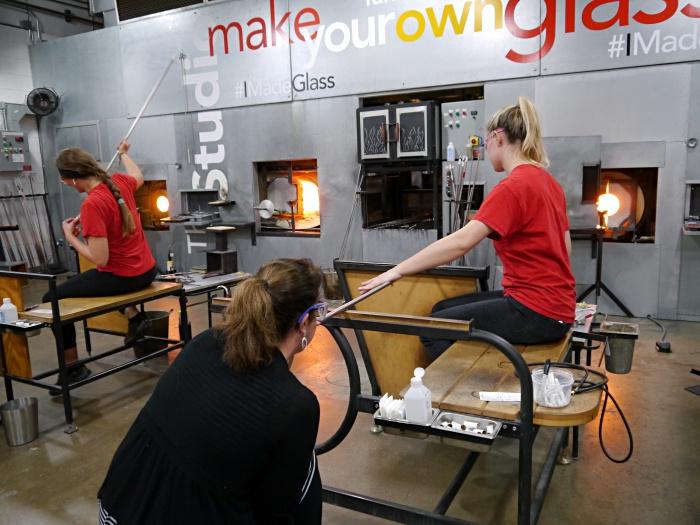Corning Glass Museum glass blowing class