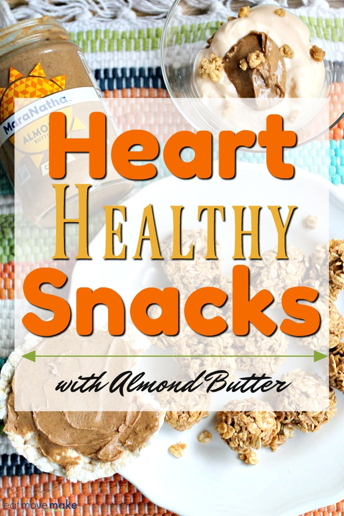 heart healthy snacks with almond butter