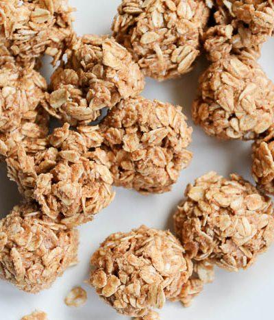 almond butter granola bites