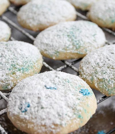 cookies on a wire baking sheet