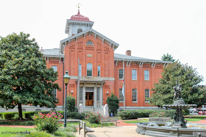 first Frederick County courthouse - Frederick MD