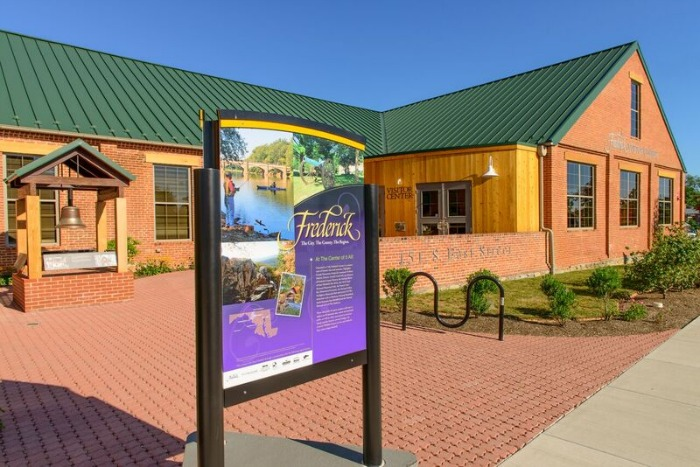 Frederick Maryland visitor center on East Street