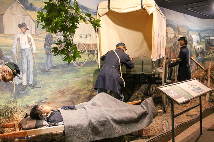 display in Civil War Medicine museum