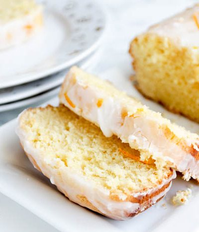 A piece of lemon cake on a plate