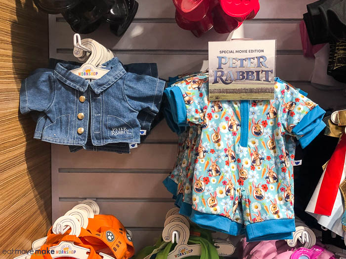 Peter Rabbit clothing at Build a Bear