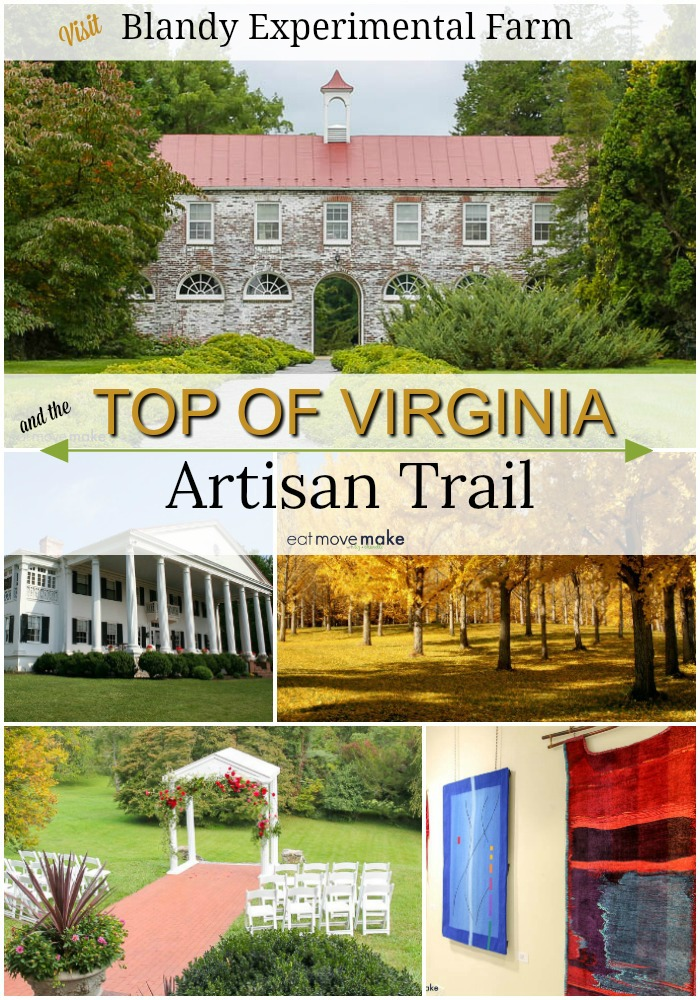 top of Virginia artisan trail - blandy experimental farm