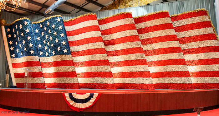 A close up of a flag float