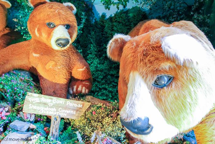 A large brown teddy bear
