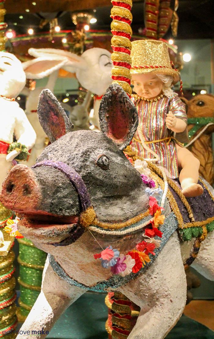 pig on carousel