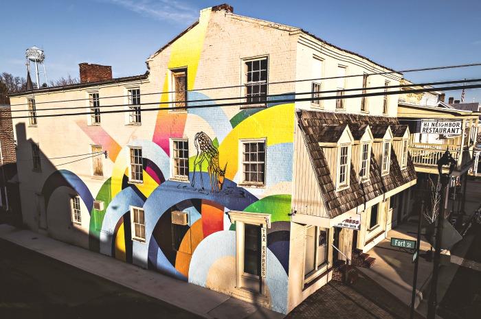 mural in Strasburg VA
