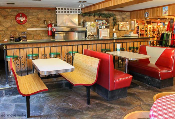 cafe at Shenandoah Caverns