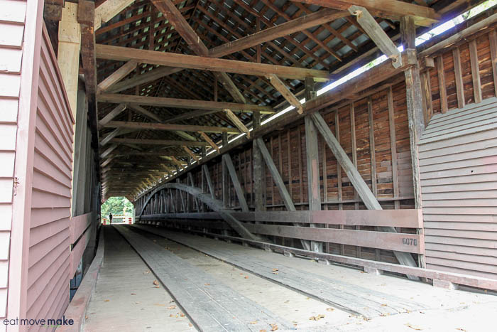 inside Meems Bottom Bridge
