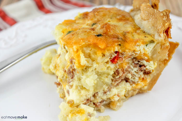 slice of corned beef breakfast bake