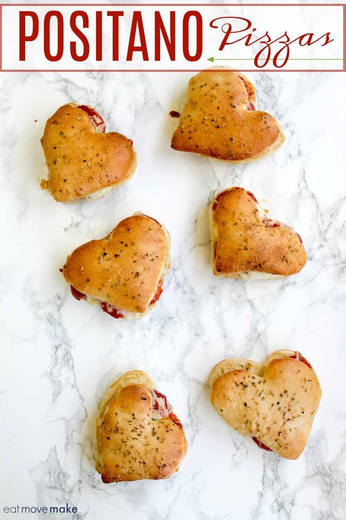 Positano pizzas - Valentines Day pizza