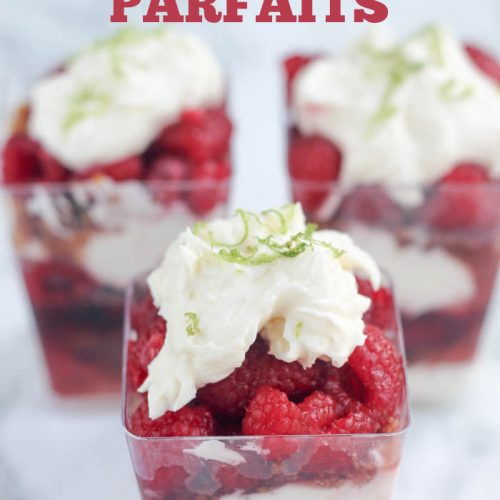 A close up of parfaits