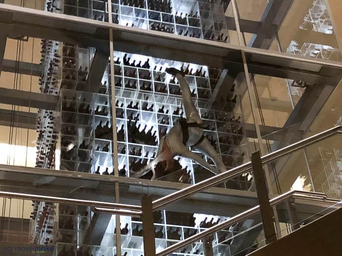 wine tower with wine angel -  Aureole