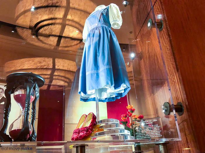 Dorothy\'s dress and red slippers