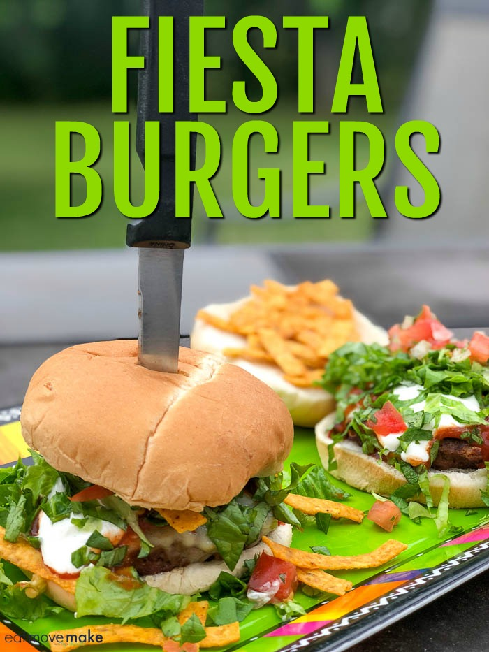 fiesta burgers on serving tray