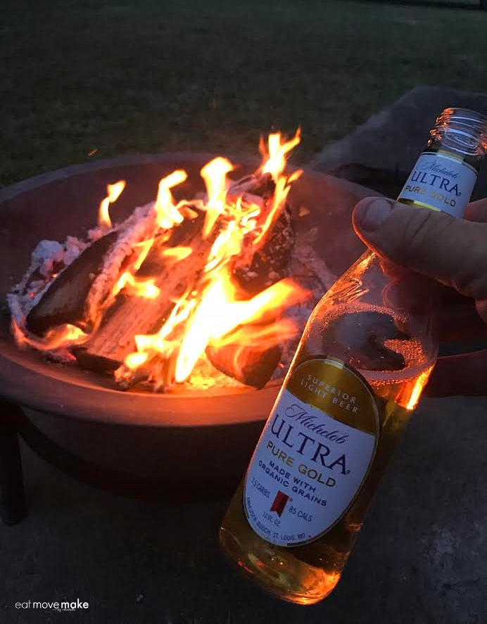 Michelob Ultra by firepit