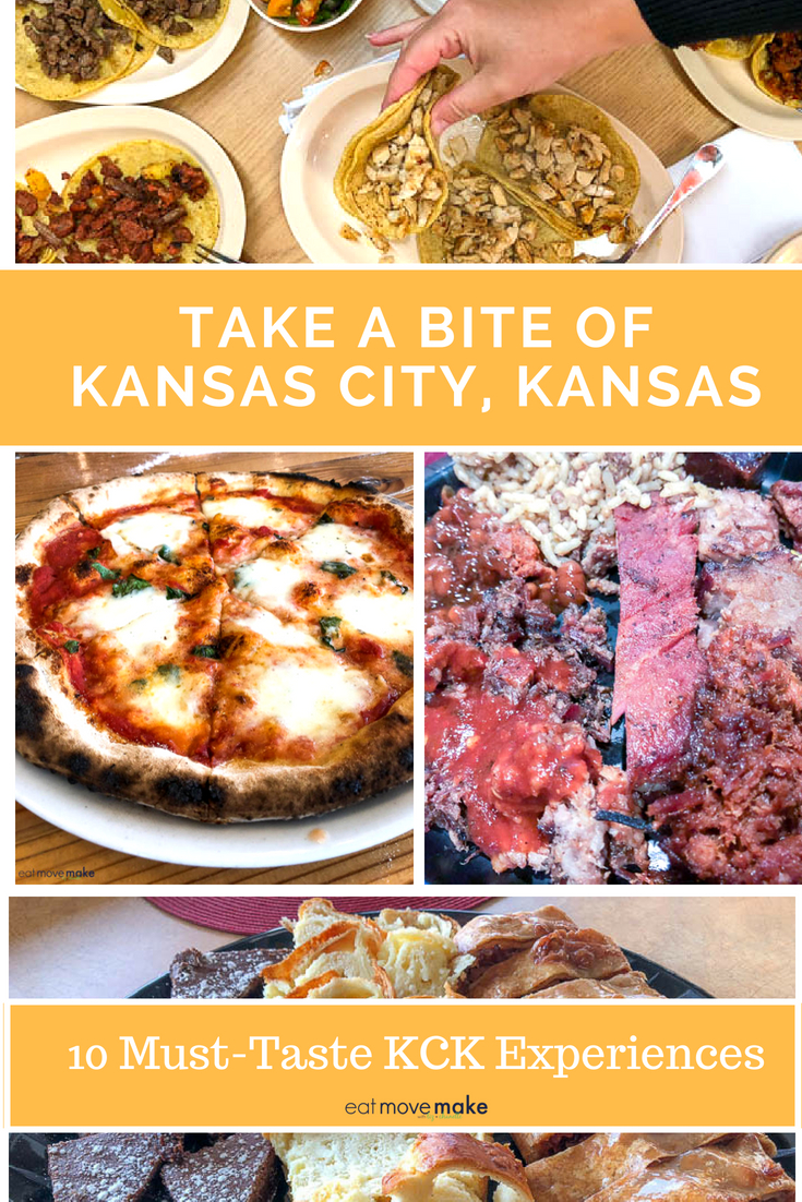 A bunch of different types of food, with Kansas