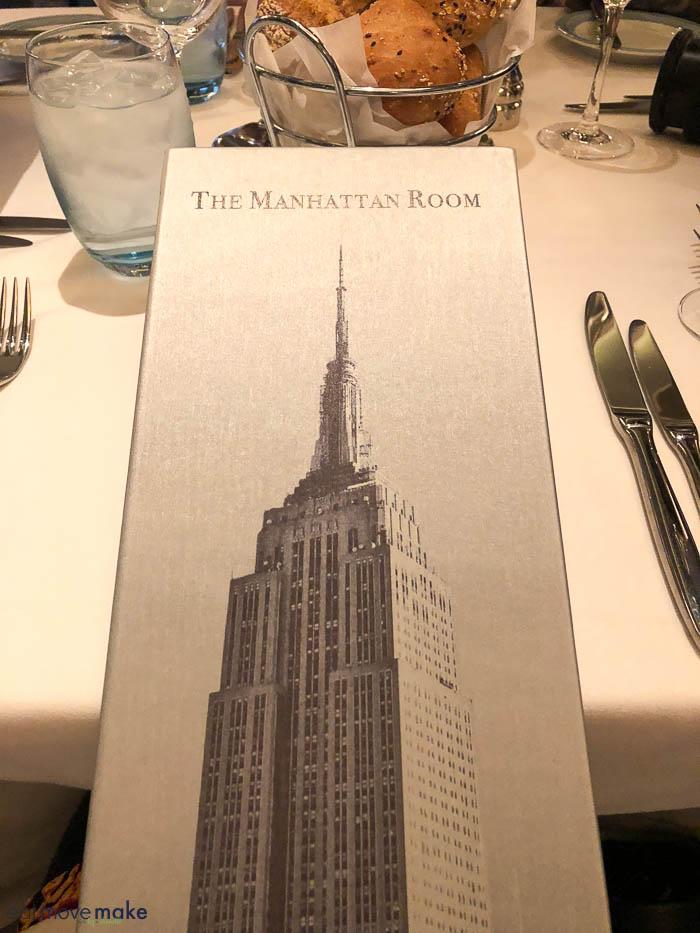 menu of Manhattan Room on the Bliss
